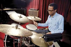 Brian Blade Playing