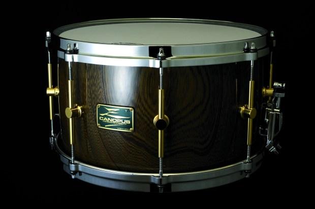 product close up canopus 8x14 zelkova snare drum november 2013 issue modern drummer magazine. Black Bedroom Furniture Sets. Home Design Ideas