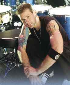 Drummer Chad Szeligs from Breaking Benjamin