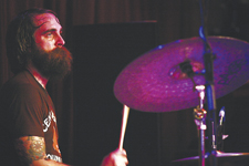 Drummer Chris Wilson of Ted Leo And The Pharmacists