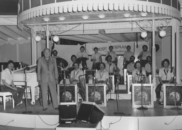 Dave Ratajczak with the Woody Herman Orchestra, July, 1982 Courtesy of John Fedchock