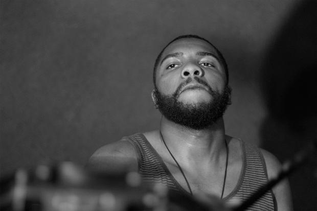 Drummer Duncan Burnett of Mime Game