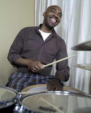 drummer Eric Harland playing