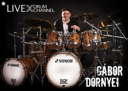 Today! Gabor Dornyei Live Streams on DrumChannel