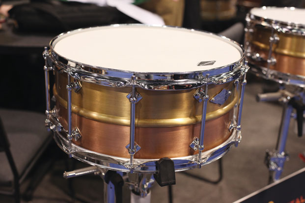 Craviotto Masters Metal series two-piece brass and copper snares