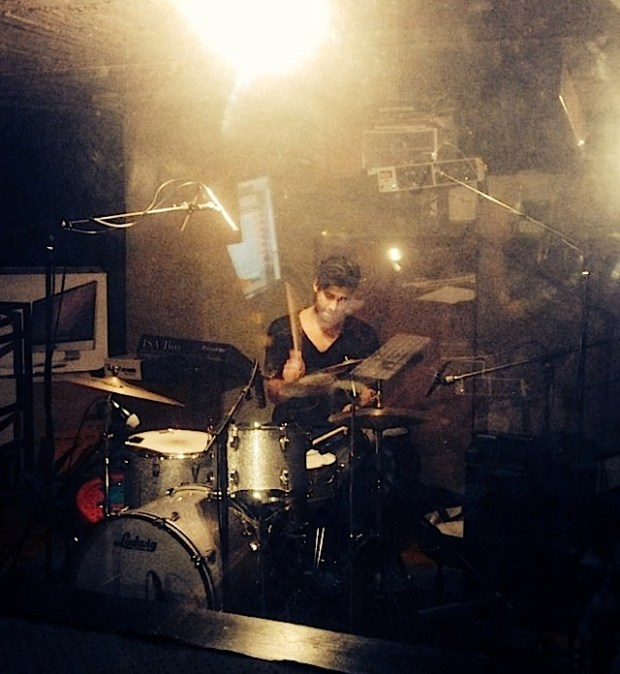 Drummer James Jennings of Lime Cordiale