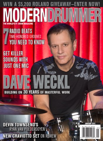 January 2015 Issue of Modern Drummer featuring Dave Weckl