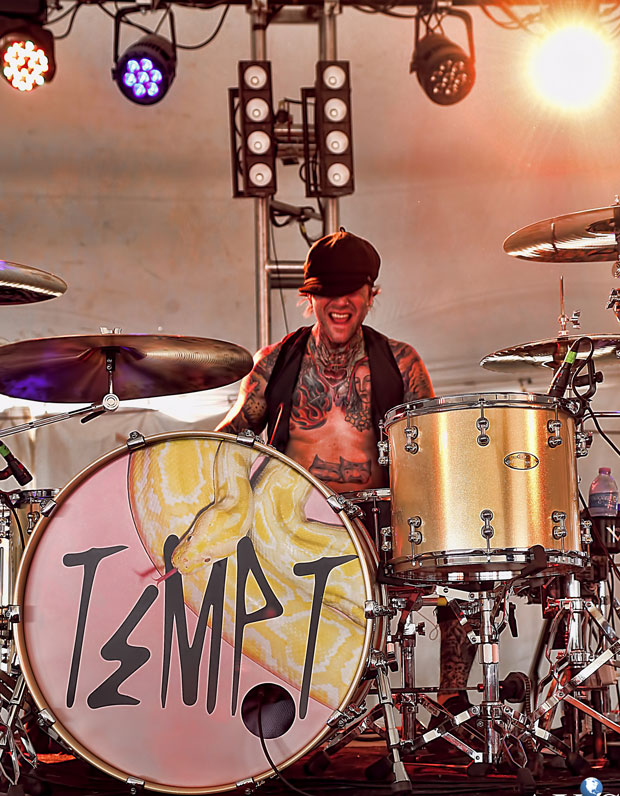 Drummer Jimmi Kane of Tempt