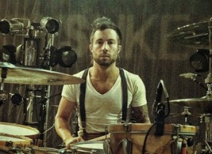 Drummer John Keefe of Boys Like Girls