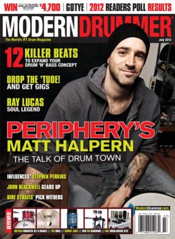 July 2012 Issue of Modern Drummer Magazine
