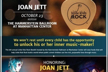 Little Kids Rock to Honor Joan Jett on October 23