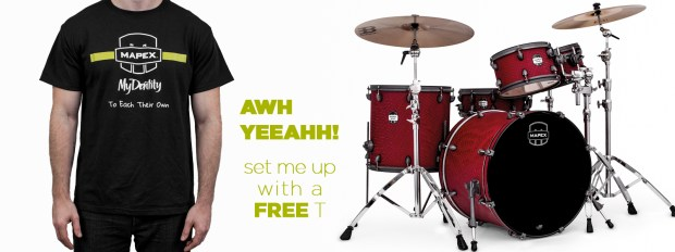 Mapex Offers Special Edition T-Shirt for MyDentity Owners