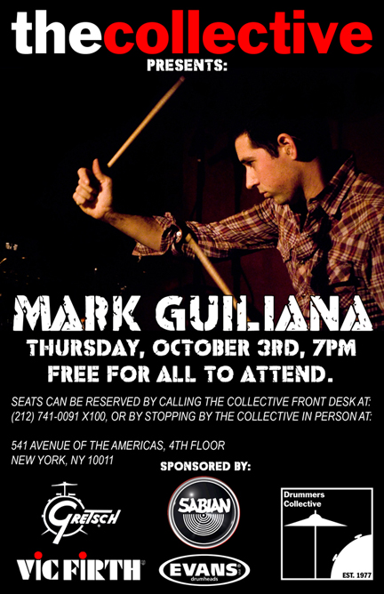 Drummer Mark Guiliana Free Clinic