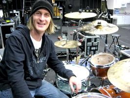 Drummer Mike Bennett with Hillary Duff