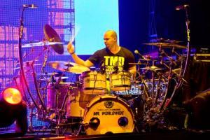 Drummer Omar Tavarez at his kit