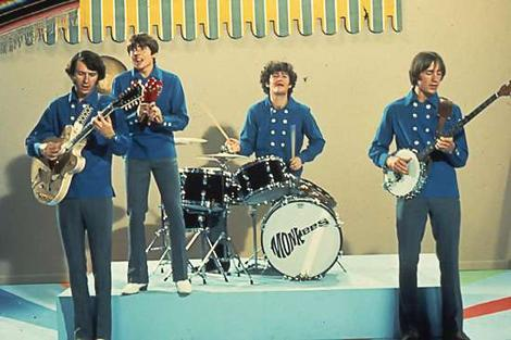 Micky Dolenz drumming with the Monkees