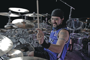 Drummer Mike Portnoy Playing
