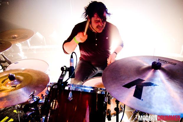 Piers Hewitt of the Boxer Rebellion Drummer Blog, Photo by Rob Funcken
