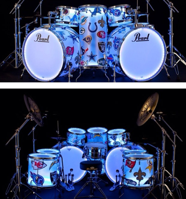 DrumLite LED System Used by Chili Pepper Chad Smith During