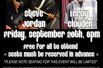Drummers Steve Jordan and Leroy Clouden Drum Clinic