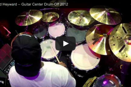 Gerald Heyward at Guitar Center's 2012 Drum-Off Grand Finals