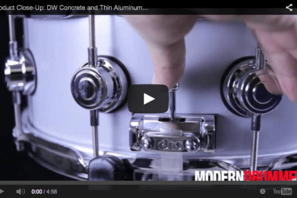 VIDEO! Product Close-Up: DW Collector's Series Concrete and Thin Aluminum Snares (December 2013 Issue)