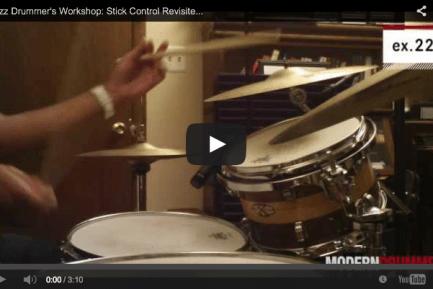 VIDEO! Jazz Drummer's Workshop: Stick Control Revisited, Part 3 (December 2013 Issue)