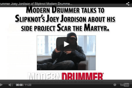 VIDEO: Joey Jordison of Slipknot Exclusive Interview on his Newest Project Scar the Martyr