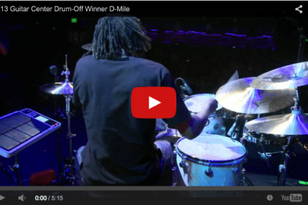 VIDEO - Dawud Aasiya-Bey Wins Guitar Center's Twenty-Fifth Annual Drum-Off