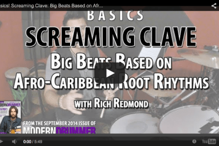 VIDEO! Screaming Clave: Big Beats Based on Afro-Caribbean Root Rhythms (From the September 2014 Issue)