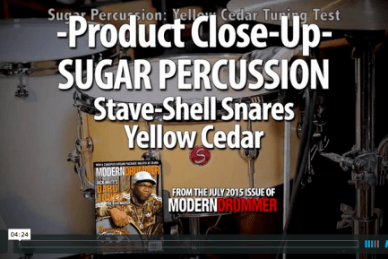 VIDEO DEMO! Sugar Percussion Stave-Shell Snares