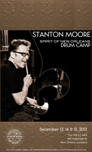 Stanton Moore to Host Spirit of New Orleans Drum Camp This December 13–15