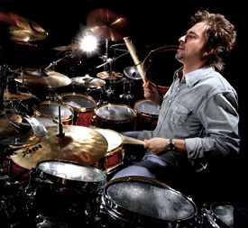 Styx's Todd Sucherman at the drumkit