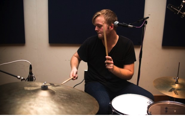 Drummer Sean Donaghy of Wild Rompit