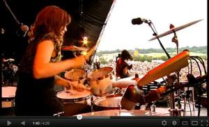 "Sarah Jones on Bat For Lashes' ""Glass"" at Glastonbury 2009"