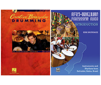 Creative Brazilian Drumming By Christiano Galvão Afro-Brazilian Percussion Guide By Kirk Brundage
