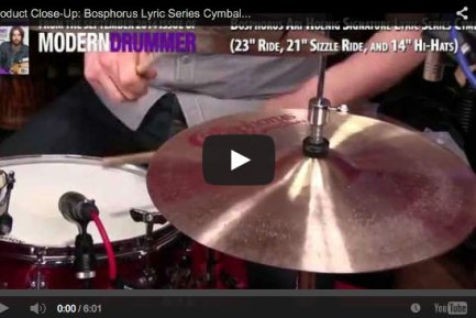 VIDEO! Product Close-Up: Bosphorus Lyric Series Cymbals (From the September 2014 Issue)