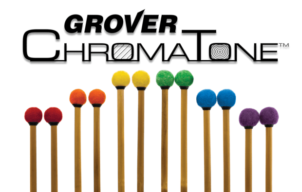 Grover Pro now offering colored ChromaTone timpani mallets.