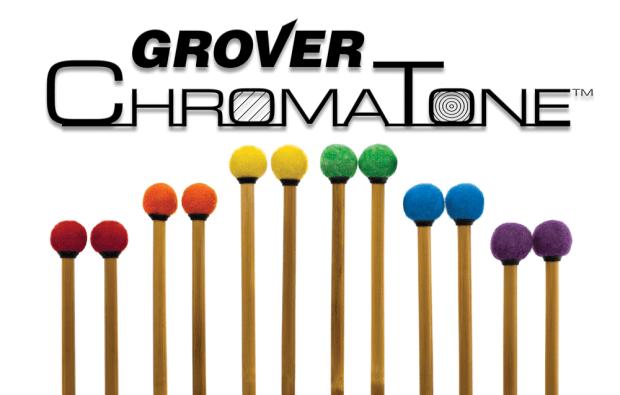 Grover Pro now offering colored ChromaTone timpani mallets.