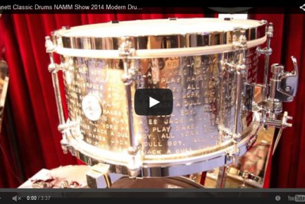 VIDEO Dunnett Classic Drums NAMM Show 2014 Modern Drummer Magazine New Gear Coverage