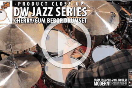 Product Close-Up: DW Jazz Series Cherry/Gum Bebop Drumset (From April 2015)