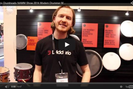 VIDEO - Evans Drumheads NAMM Show 2014 Magazine New Gear Coverage