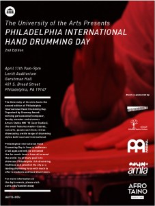 "UArts Hosts Second-Annual ""Philadelphia International Hand Drumming Day"" on Saturday, April 11"