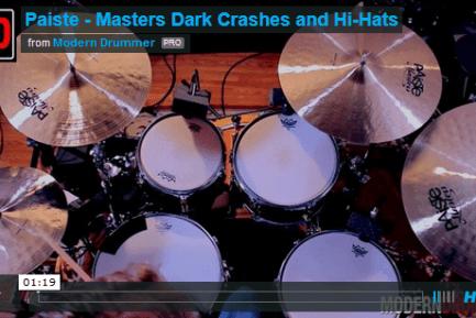 VIDEO DEMO! Paiste Masters Dark Crashes and Hi-Hats