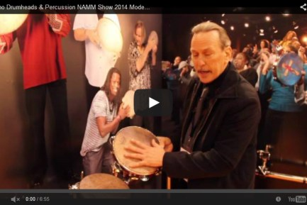 VIDEO - Remo Drumheads & Percussion NAMM Show 2014 Modern Drummer Magazine New Gear Coverage