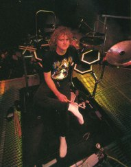 Def Leppard Drummer Rick Allen sitting behind his kit