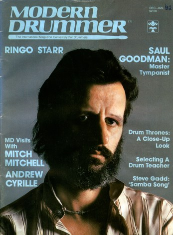 Beatles Drummer Ringo Starr on the Cover of Modern Drummer magazine