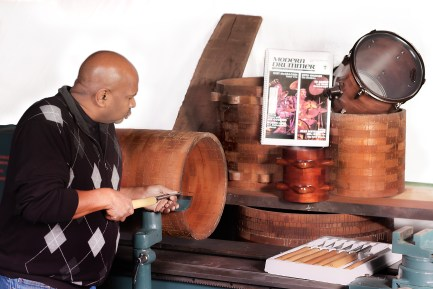 "Sherwood Percussion Builds ""Natural True Tone"" Drum Shells"