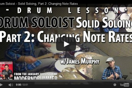 VIDEO! Solid Soloing, Part 2: Changing Note Rates