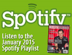 Listen to the Drumming on Spotify: Great Tracks From MD's January 2015 Issue